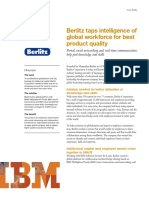 IBM-Berlitz Taps Intelligence of Global Workforce for Best Product Quality