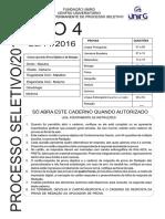 Caderno Tipo 4 Unirg 2017/1
