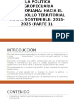 La Política Agropecuaria Ecuatoriana Ppt