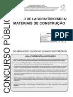 Cs Ufg 2017 Ufg Tecnico de Laboratorio Materiais de Construcao Prova