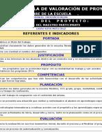 Copia de Escala de Evaluación de Proyectos 2014
