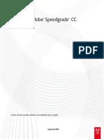 Manual Adobe SpeedGrade