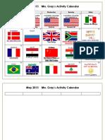 May 2017 Activity Calendar