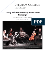 Ludwig Van Beethoven Op 95 in f Minor