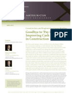 Arthur Cox Goodbye to Pay When Paid April 2012