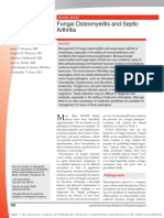 Fungal Osteomyelitis and Septic Arthritis Review