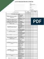 Planilla de Evaluación en Citricos