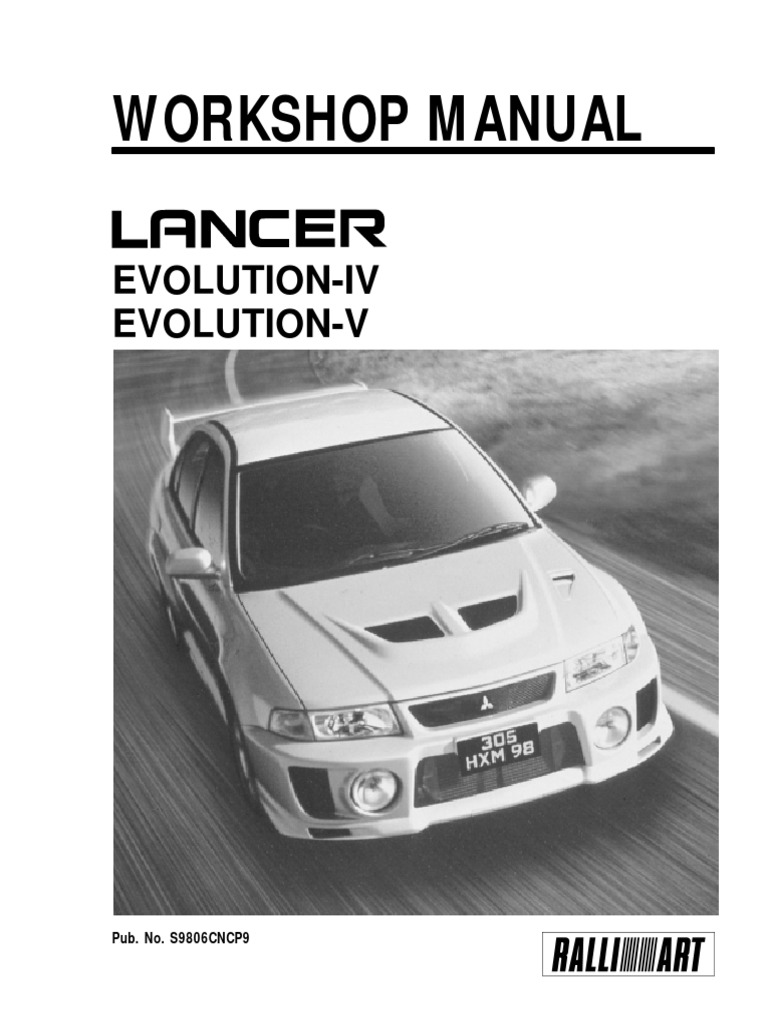 1998 Mitsubishi Lancer Evo4and5 Manual