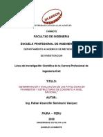 Linea de Investigacion Cientifica Ing. Civil