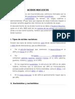 Acidos Nucleicos (ADN y ARN)