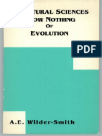 Natural Sciences Know Nothing of Evolution
