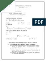 Formulario de  Integral Por Partes
