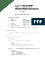 Estructuras de Madera - Syllabus