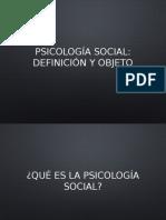 Objeto de la Psicología Social 2017 - Sociología