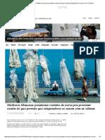 Mulheres Libanesas Penduram Vestidos de Noiva