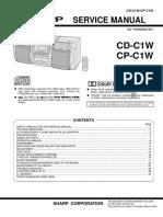 Sharp Mc CD-c1w Cp-c1w