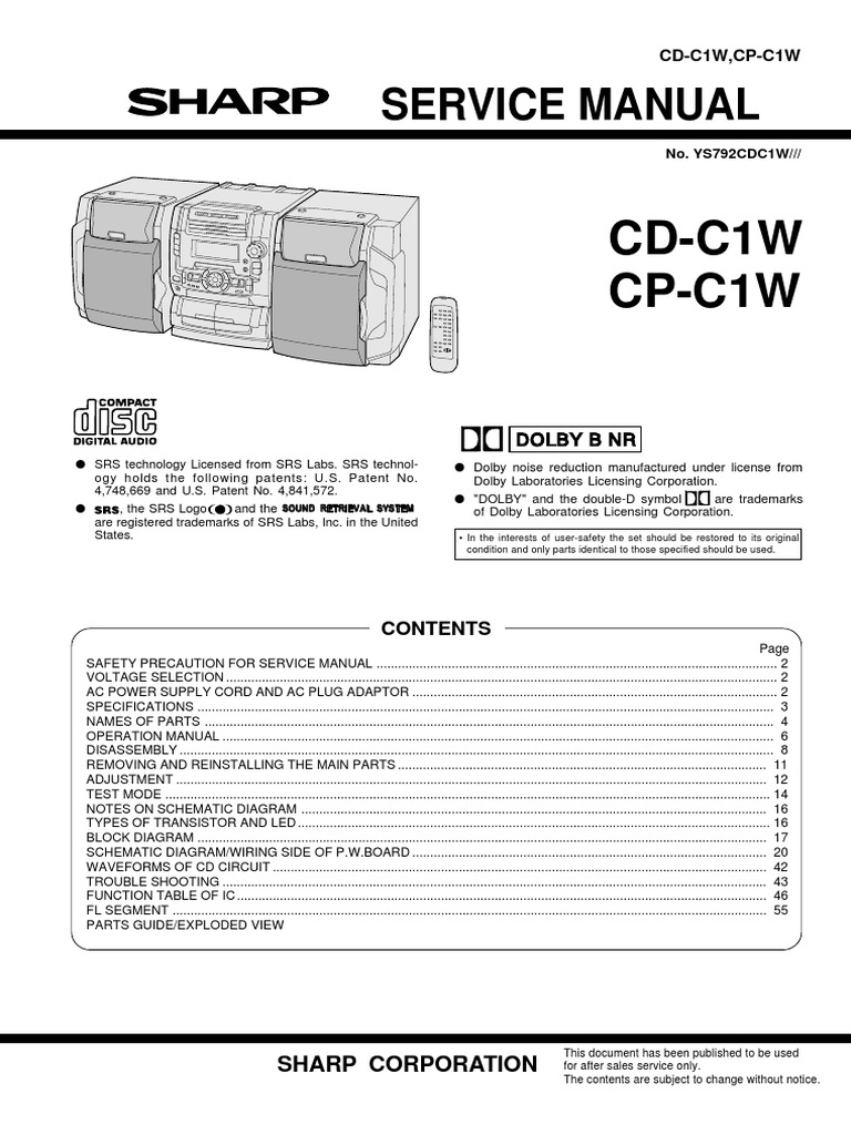 Sharp Mc Cd C1w Cp Muting Transistor Attenuator Circuits And The 2sc2878