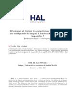 Développer Et Évaluer Les Compétences - Springer