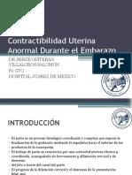 Contractibilidad Uterina Anormal Durante El Embarazo