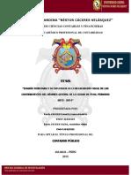 """""""Evasión Tributaria y Su Influencia en La Recaudación Fiscal de Los"""