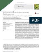 Sinergismo Efeitos de Extratos Vegetais Bases Farmacocinéticas e Farmacodinâmicas