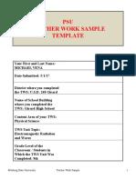 psu teacher work sample
