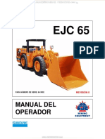 Manual Scooptram Ejc65 Sandvik Controles Instrumentos Operacion Seguridad Mantenimiento Solucion Averias