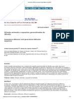 Anomalous Diffusion and Generalized Diffusion Equations