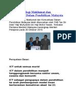 Dasar Teknologi Maklumat Dan Komunikasi Dalam Pendidikan Malaysia