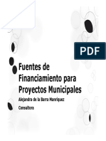 Fuentes de Financiamiento Municipal Adm