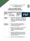 Plan de Trabajo Anual de Convivencia Escolar Escuela