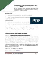 SESION No. 02Pasos Para Crear Una Empresa Con Personería Jurídica en El Perú