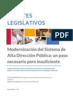 Modernización Del Sistema de Administración Pública