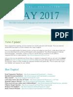 Languavel Newsletter May 2017