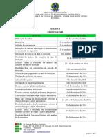 Anexo II - Cronograma do Edital N° 47
