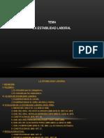 Estabilidad Laboral en El Peru
