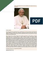 Renuncia Benedicto Texto