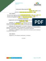 Modelo de Ordenanza Del Reglamento de Presupuesto Participativos v3.0