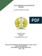 Perjanjian Lisensi Dalam Hukum Merk