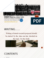 Writing a Research Proposal-PhD Tips