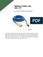 Tutorial Membuat Kabel Vga Dengan Kabel Utp