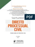 Avulsas Cole o Sinopse Direitro Processual Civil Geral 3a Ed