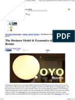 The Business Model and Economics of OYO Rooms