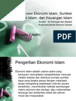 1. Overview Ekonomi Islam, Sumber Hukum Islam,
