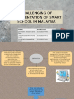 Challenging of Implementation of Smart School in Malaysia