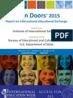 Open Doors Presentation 2015