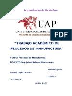 T.A Procesos de Manufactura