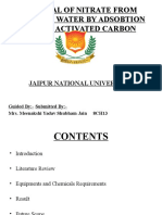 ppt of removal of nitrate by charcoal