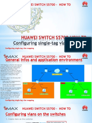 Huaweiswitchs5700 Howto Configuringsingle Tagvlanmapping