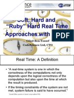 Soft, hard and ruby hard real time with Linux
